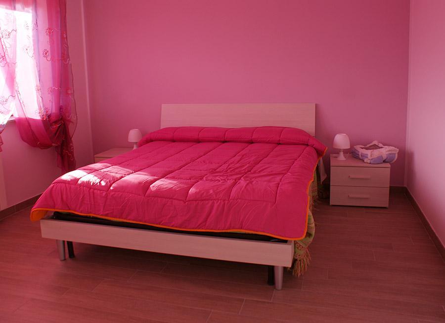 B&B L'Aquila del Parco - Il letto della camera viola